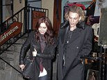 Working: The actors are currently both filming The Mortal Instruments: City of Bones together in the city