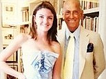 Rich: Allie Romney, pictured with fashion designer Oscar de la Renta, is the latest elite youngster to feature on the blog 'Rich Kids of Instagram'