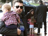 Is Jennifer Garner¿s little boy competing with Harper for best-dressed A-list baby? Samuel looks stylish during outfit with father Ben