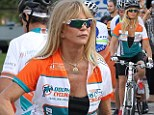 Hot wheels: Goldie Hawn shows how she maintains her fantastic form as she takes part in charity bike ride