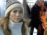 A lovers stroll: Jennifer Lopez and Casper Smart go on a romantic evening walk as tour takes them to Copenhagen