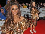 Shouldn't you have left those sequins with Strictly! Chelsee Healey sports garish glittering dress to the MOBO awards