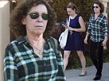 Putting on a brave face: Danny DeVito's estranged wife Rhea Perlman steps out with daughter Gracie following couple's split