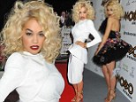 Why stick to just one gown! Rita Ora shows off her waist in dazzling white dress before slipping into flirty number at MOBO Awards 2012