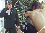 What a multi-talented man! Vanessa Lachey tweets photo of shirtless Nick doing some DIY in the garden