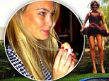 Health kick: Bar jumps on a trampoline and drinks raw egg in new pictures on her Twitter page