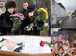 The friends and relations of Sergei Magnitsky, lawyer at the investment fund Hermitage Capital Management, during his funeral at Preobrazhenskoye Cemetery. Magnitsky, who had been arrested on a charge of tax evasion, died in prison