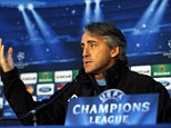 Respect: Roberto Mancini was agitated by a question about his future