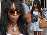 Let the party begin: Naomi Campbell arrives in India as she gears up for her billionaire boyfriend's lavish birthday bash