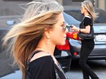 That's why she never has a bad hair day! Jennifer Aniston heads to the salon to treat her famously glossy locks