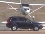 Surprise landing: A small plane careened into an SUV at an airport in Dallas, Texas, on Saturday