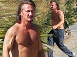 Cruisin' for a bruisin': An angry, greasy-haired, beefed-up Sean Penn goes for his daily jog