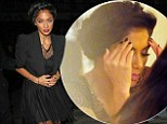 Showing the strain: Nicole Scherzinger looks worried as she steps out for dinner after boyfriend Lewis Hamilton fails to win latest race