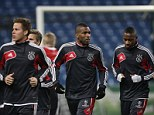 Going Dutch: Ryan Babel and his Ajax team are ready to take on Manchester City once more