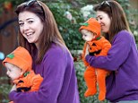 My little pumpkin! Alyson Hannigan takes baby Keeva out dressed in a very cute Halloween outfit