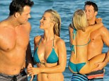 Together again: Real Housewives of Miami star Joanna Krupa with her fiance Romain Zago in Florida on Saturday