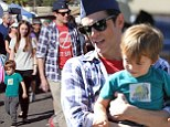 Johnny Knoxville enjoyed a day out with his children at the Farmers Market in Studio City on Sunday