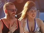 Bikini time: Lady Gaga took time out on Isla Verde Beach in San Juan, Puerto Rico, on Friday