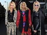 Showing off her wardrobe: Rita Ora steps out in THREE different outfits in one day