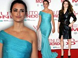 Penelope Cruz is Twice Born as she transforms into blue belle after wowing in sexy leather coat to promote new film