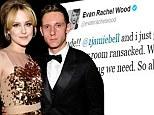 Newlyweds Evan Rachel Wood and Jamie Bell's find their hotel room 'ransacked'