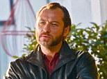 Tough guy: Jude Law reinvents himself as a hardman as he films Don Hemingway in London