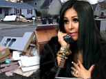 'Rebuild Jersey Shore!' JWoww reveals the wreckage of her dream home as she and Snooki sign up for Hurricane Sandy telethon