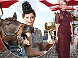 Horsing around: Mischa Barton gets to grips with Melbourne Cup winner Brew