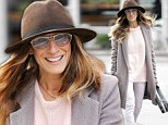 Take note fashionistas! Sarah Jessica Parker sports a chic, neutral ensemble to ward off the winter chill