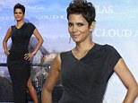 Halle Berry ditches the metal and leather dresses... as she keeps it simple but elegant for the German premiere of Cloud Atlas