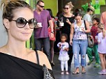 It's all about the kids! Heidi Klum and boyfriend Martin Kristen take her children shopping and treat them to an ice cream too