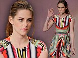 Kristen Stewart keeps things strictly business (and away from the subject of R-Patz) during colourful appearance on Jay Leno show