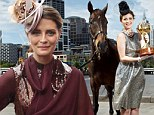 What a fascinating day out! Mischa Barton wows in TWO stunning hats as she horses around at the Melbourne Cup