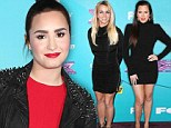 Fashion face-off! Britney Spears and Khloe Kardashian both compete in their near identical LBDs... as lady in red Demi Lovato stands out in scarlet
