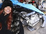 Lindsay Lohan 'to be charged with lying to police after claiming she hadn't been driving when her Porsche crashed into a truck'