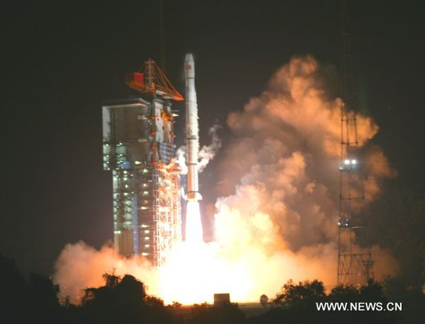 The fifth orbiter into space, as part of its satellite navigation and positioning network known as Beidou, or Compass system, is launched on the Long March 3I carrier rocket at Xichang Satellite Launch Center in Xichang, southwest China's Sichuan Province, on August 1, 2010. (Xinhua/Du Cai) (zhs)
