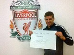 Tweet success: Steven Gerrard thanks supporters after answering their questions on social networking site Twitter