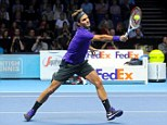 Smash hit: The great Swiss lost just four games on his way to victory against the Serbian