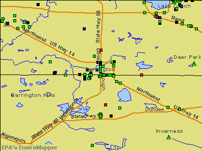 Barrington, Illinois environmental map by EPA