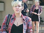 Miley headed straight for the ballot box on Tuesday morning but had a solemn face as she emerged.