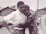 Heartwarming: The photograph of Michelle and Barack Obama in their early twenties, which was posted to Facebook