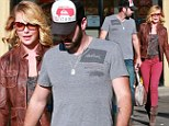 Looking swish for sushi! Katherine Heigl steps out in Autumnal brights for a lunch date with husband Josh Kelley