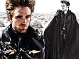 R-Patz like you have never seen him before! Pattinson wears patent leather, giant spikes and skulls as he poses in Gothic-inspired Vogue shoot