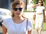 Eva Mendes enjoyed some retail therapy in Los Angeles on Wednesday