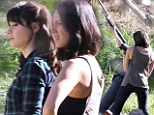 Girl fight! Zooey Deschanel and Olivia Munn had a blast shooting a scene for New Girl, which included wrestling over a shotgun