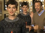 Anne Hathaway is asking for your vote on her pixie cut in her latest promo for Saturday Night Live with Jason Sudeikis