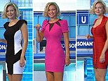 Countdown co-host Rachel Riley favours short, figure-hugging dresses for her appearances on the programme