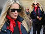 She's one lippy lady! Elle Macpherson pulls her best pout as she leaves a pilates class