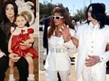 Singer/Songwriter Michael Jackson and children Michael Joseph Jackson, Jr. and Paris Michael Katherine Jackson