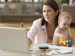 Having it all? One lawyer in Washington wrote in a resignation email that she could no longer do 20-hour days juggling work and family (stock photo)